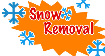 a callout announcing snow removal service