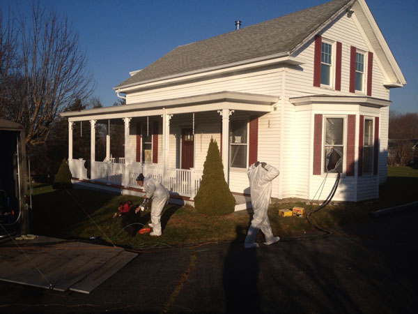 Spray Foam Job in Newport East, Rhode Island